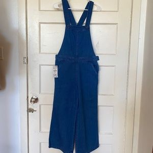 NEW Zara Denim overall-style jumpsuit.